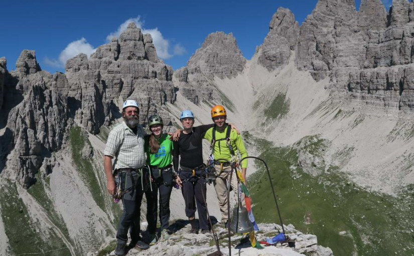 Plezanje na Campanile di val Montanaia