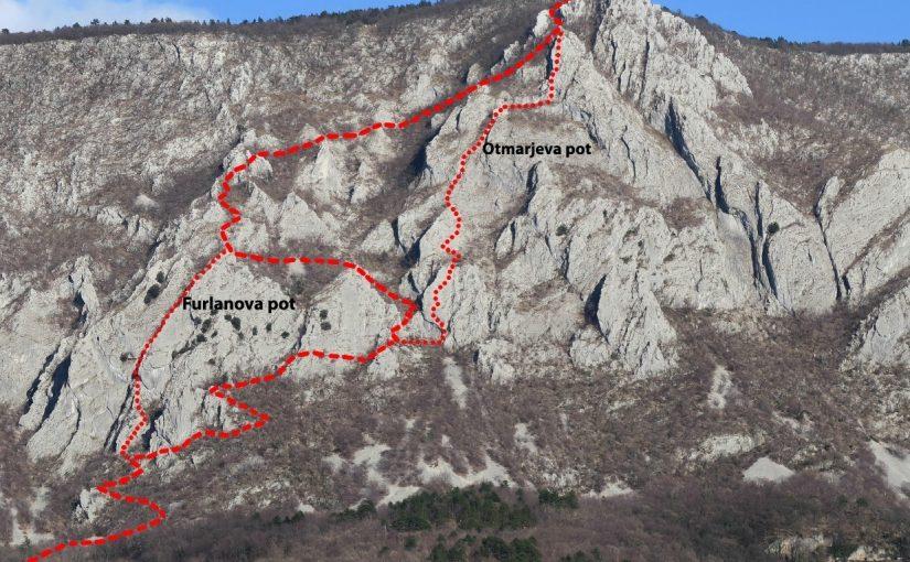 Odprtje nove zelo zahtevne planinske poti v Gradiški Turi